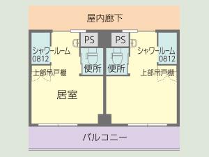 居室 Cタイプ3階 間取